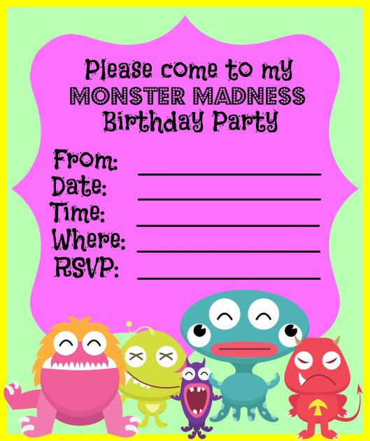 Monster theme birthday party