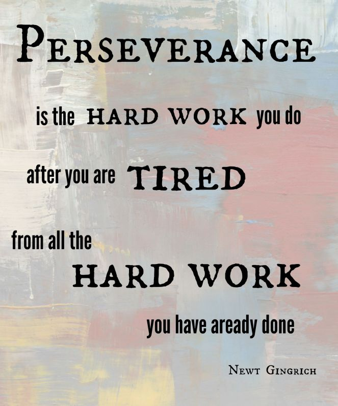 perseverance weekly inspiration