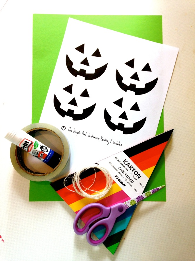 What you need halloween bunting