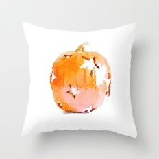 watercolor-pumpkin-with-star-cutouts-throw-pillow